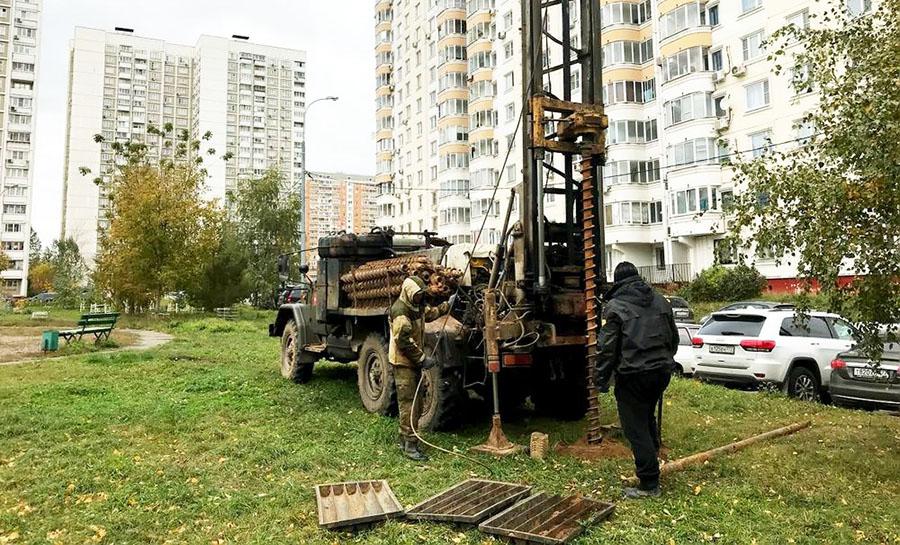 Геологические исследования местности перед проведением строительных работ